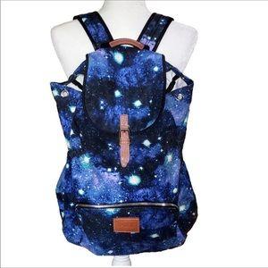 EUC Pink Galaxy Print Backpack